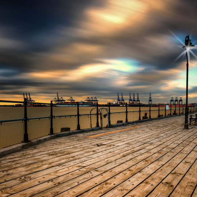 """Half Penny Pier In Evening Light"" stock image"