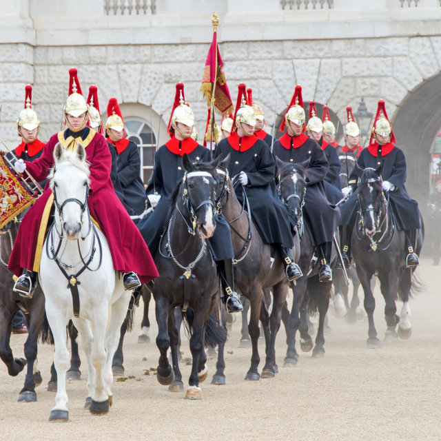"""Leaving Horseguards"" stock image"