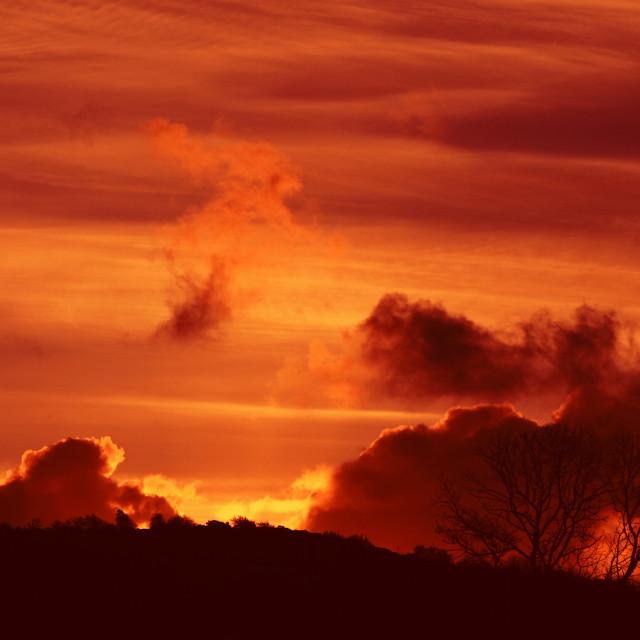 """Carnmoney Hill Sunrise"" stock image"