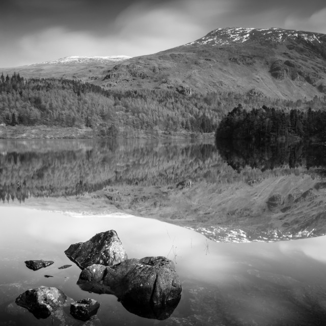 """""""Helvellyn from Thirlmere"""" stock image"""
