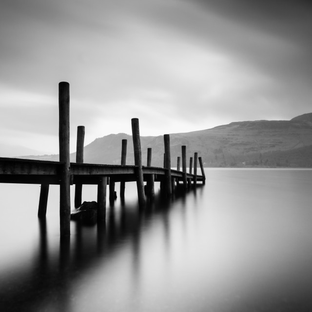 """Brandlehow Jetty, Derwent Water"" stock image"