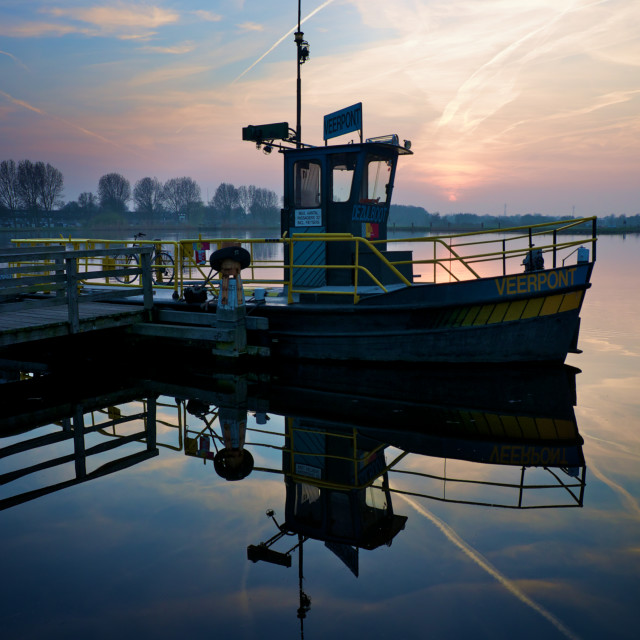 """""""Sunset over the Ferry"""" stock image"""