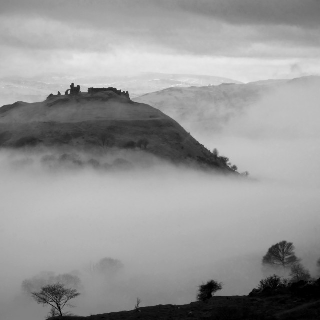 """""""Castell Dinas Bran"""" stock image"""