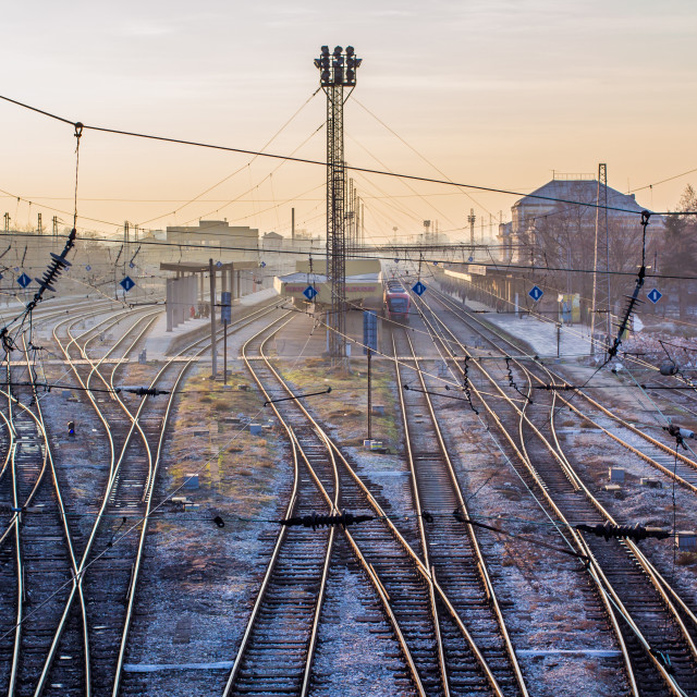 """Railway station in Plovdiv"" stock image"