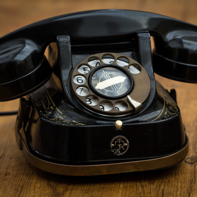 """""""1940s Rotary Dial Telephone"""" stock image"""