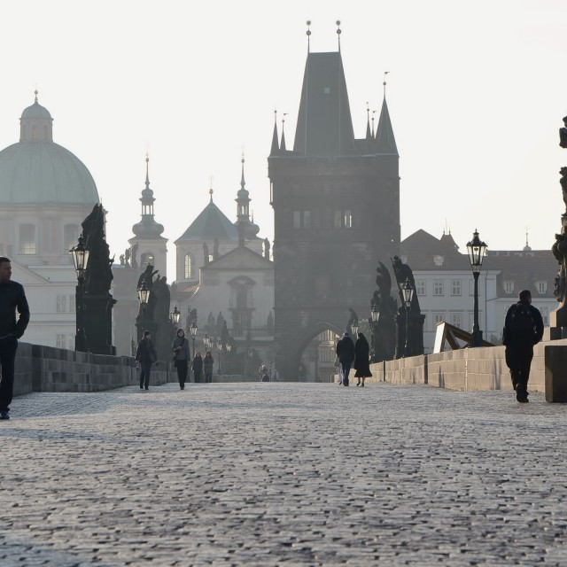 """Charles Bridge, Prague"" stock image"