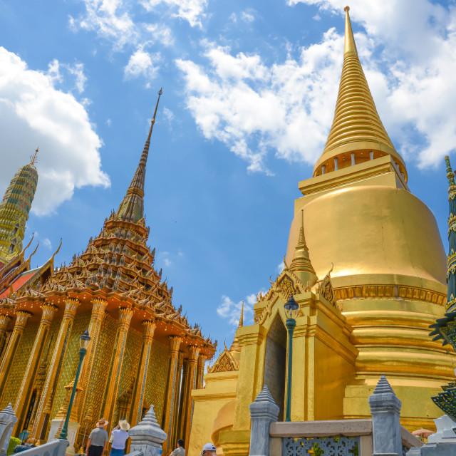 """tha temple of the Emerald Buddha"" stock image"