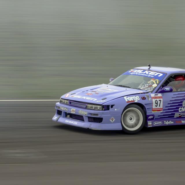 """Team Falken Nissan S13 drifting"" stock image"