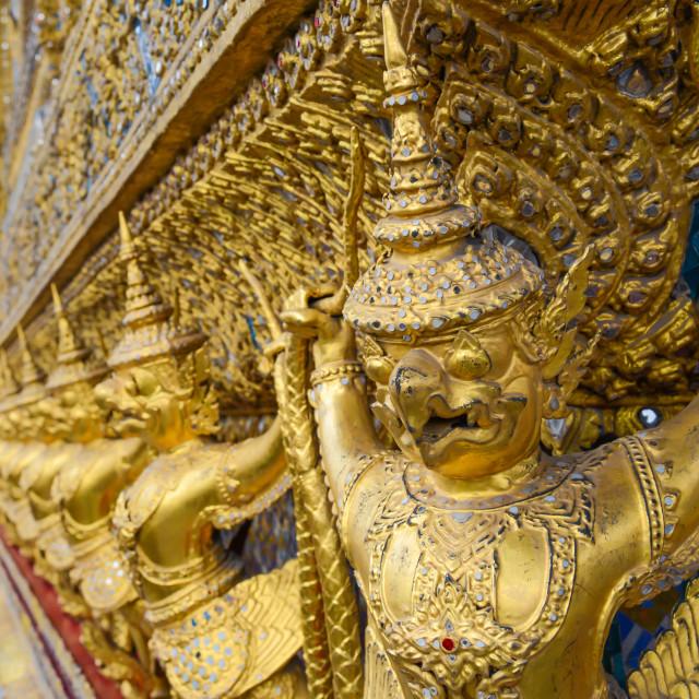 """garuda decoration of tha temple of the Emerald Buddha"" stock image"