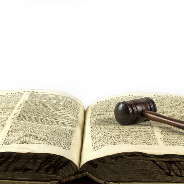"""""""Gavel on a law book"""" stock image"""