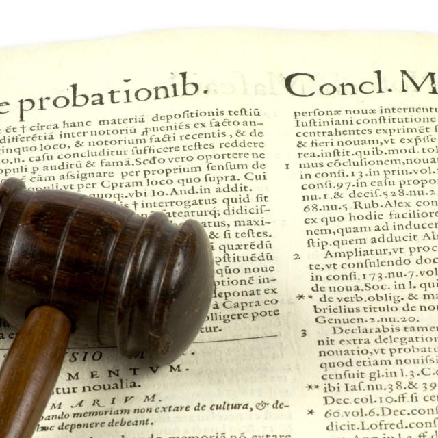 """De probationib"" stock image"
