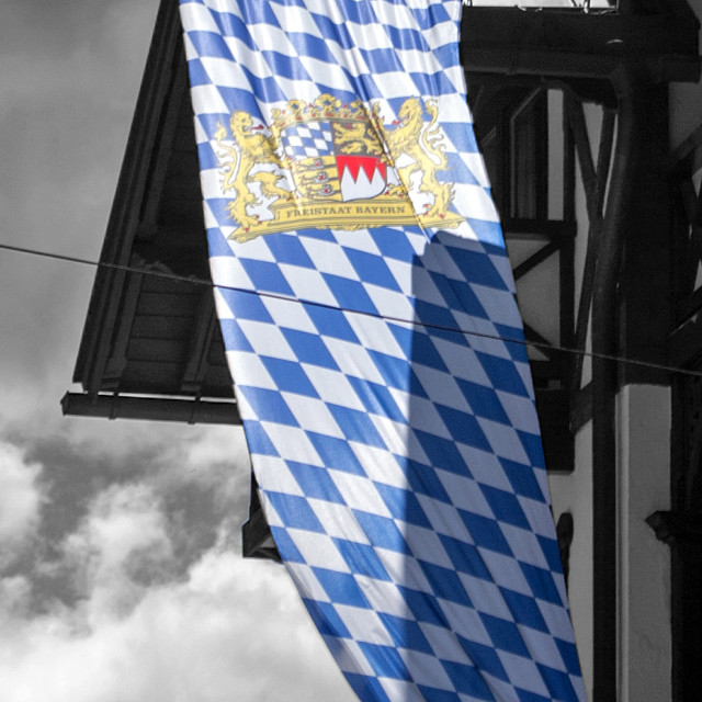 """Flag of the Free State of Bavaria"" stock image"