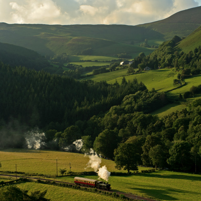 """Steaming in Wales"" stock image"