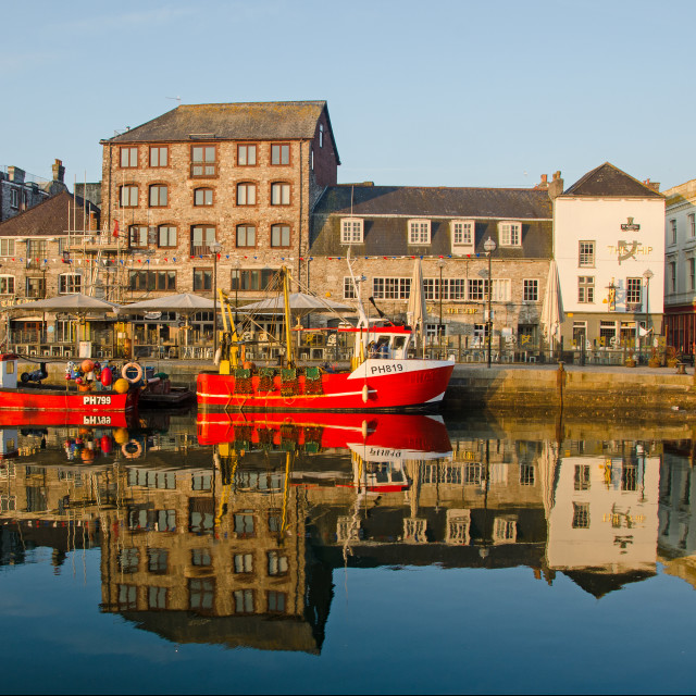 """The Barbican at Plymouth"" stock image"