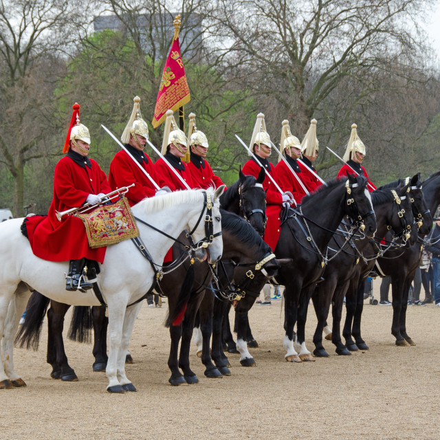 """""""Horse Guards on parade"""" stock image"""
