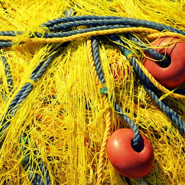 """Yellow Fishnet"" stock image"