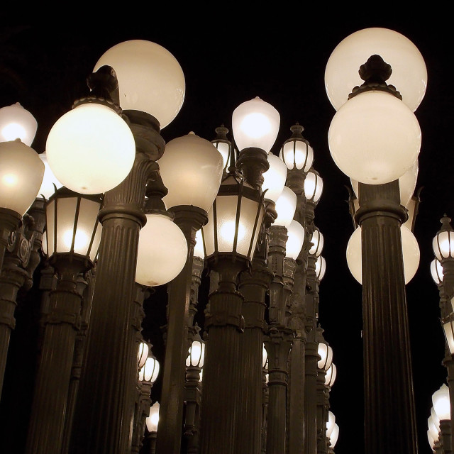 """Urban Light Unfiltered"" stock image"