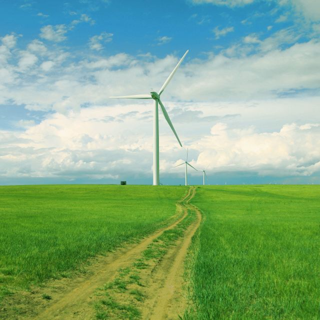 """road of wind farm"" stock image"