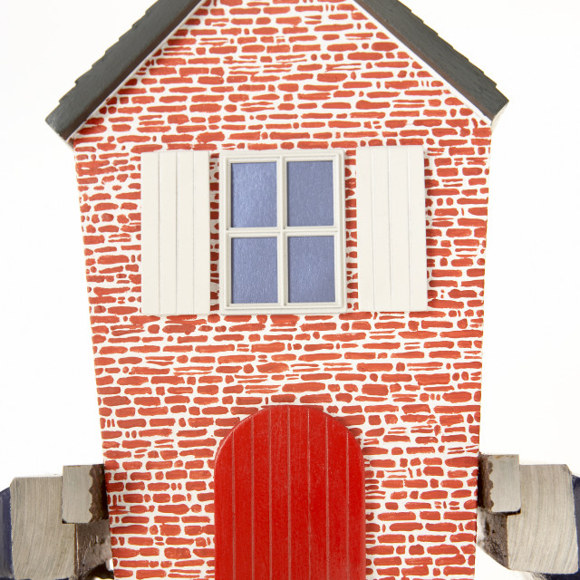 """""""House Squeezed In Vice"""" stock image"""