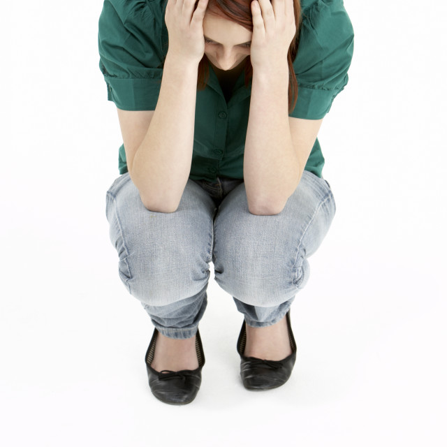 """Depressed Teenage Girl"" stock image"