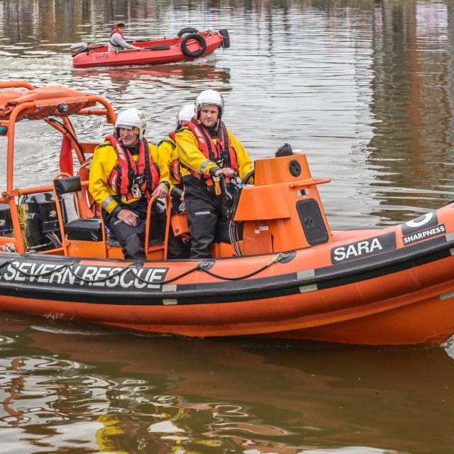 """""""Severn Rescue Inflatable"""" stock image"""