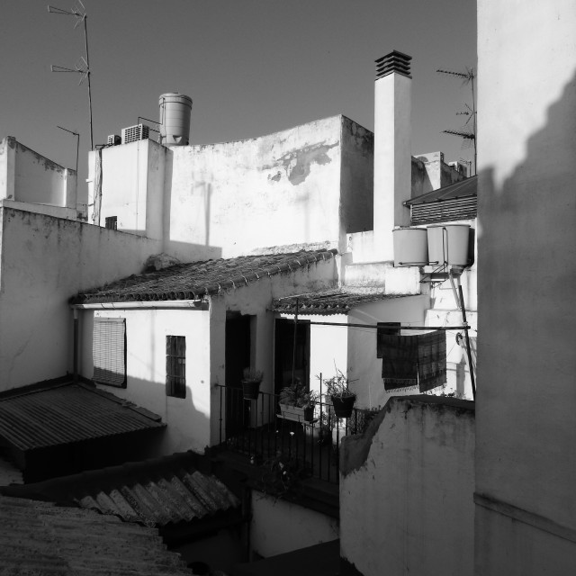 """View from a terrace in Andalusia"" stock image"