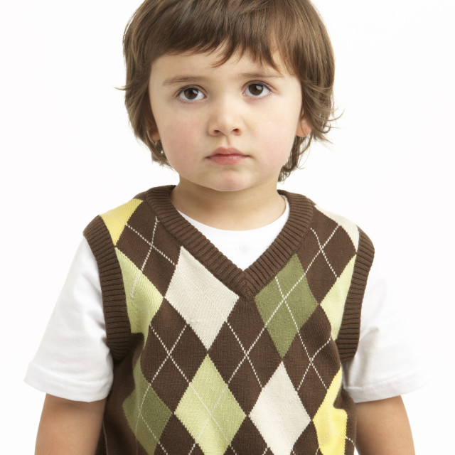 """Half Length Portrait Of Young Boy"" stock image"