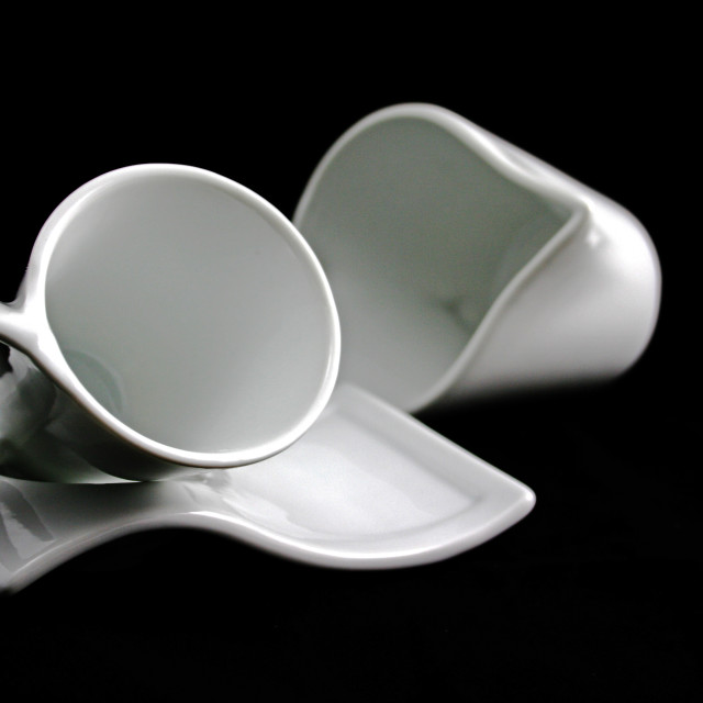 """""""Cup and milk jug"""" stock image"""