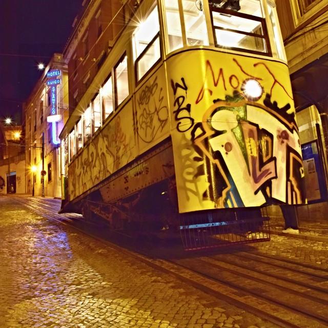 """Lisbon Tram"" stock image"
