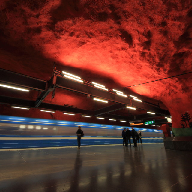 """""""The colorful underground of Stockholm"""" stock image"""