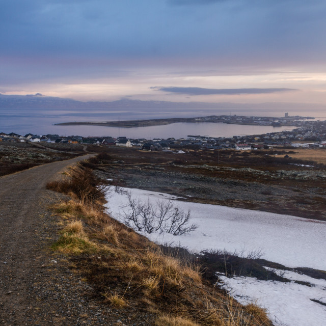 """Road to Vadsø"" stock image"