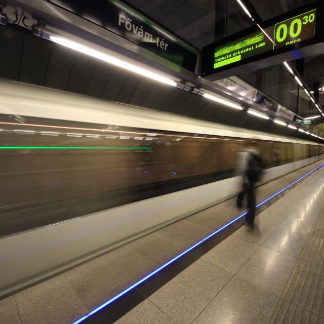 """""""Budapest subway"""" stock image"""