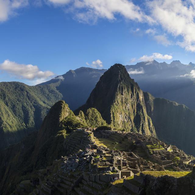 """Machu Picchu Sunrise"" stock image"