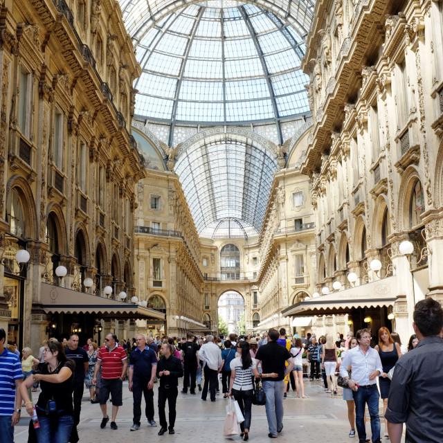 """""""Galleria Vittorio Emanuele II"""" stock image"""