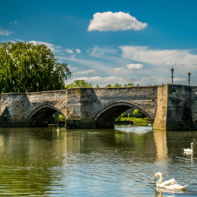 """Bridge Over Great Ouse"" stock image"