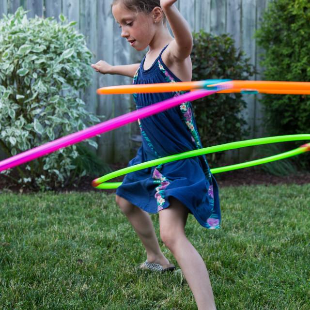 """Rockin' those hula hoops!"" stock image"