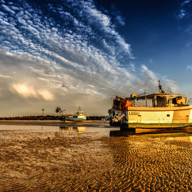 """Low Tide Strange Clouds"" stock image"