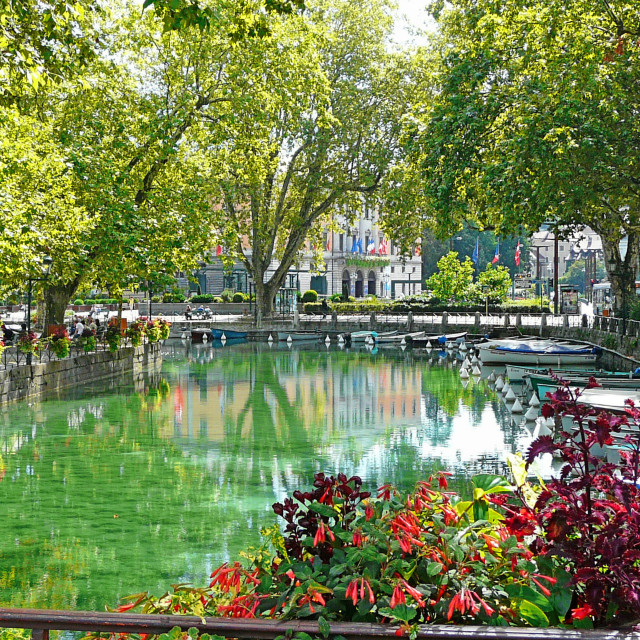 """""""Reflections in Annecy"""" stock image"""
