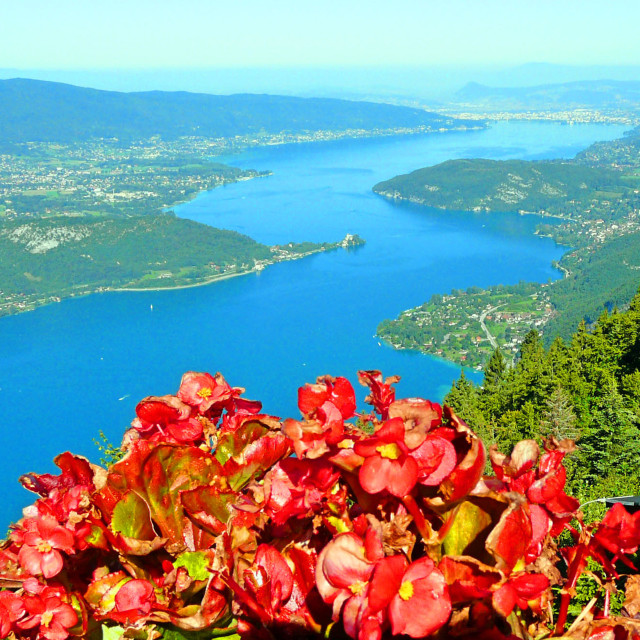 """""""The wonderful Lake Annecy, France"""" stock image"""