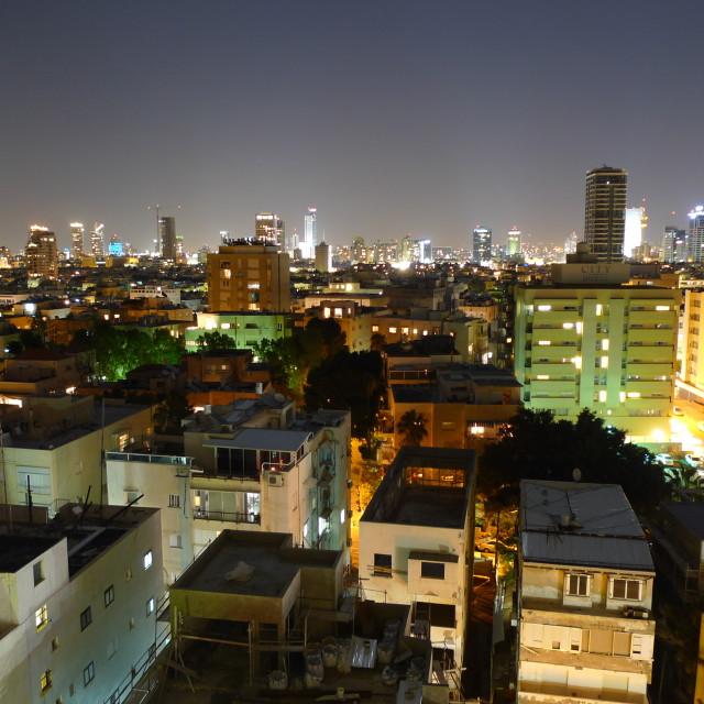 """""""Tel Aviv After Dark"""" stock image"""