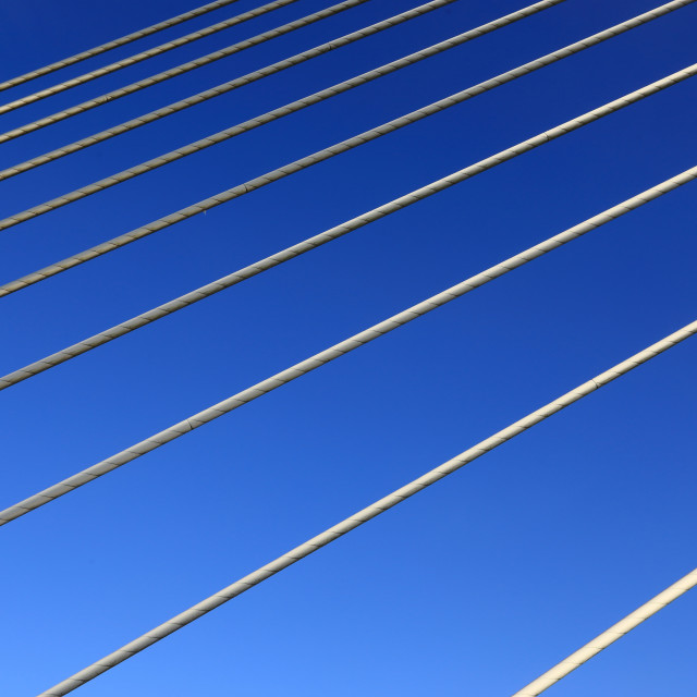 """The wires and the Blue"" stock image"
