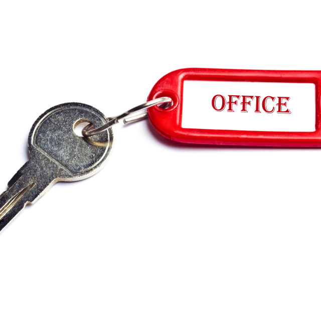 """Office key"" stock image"