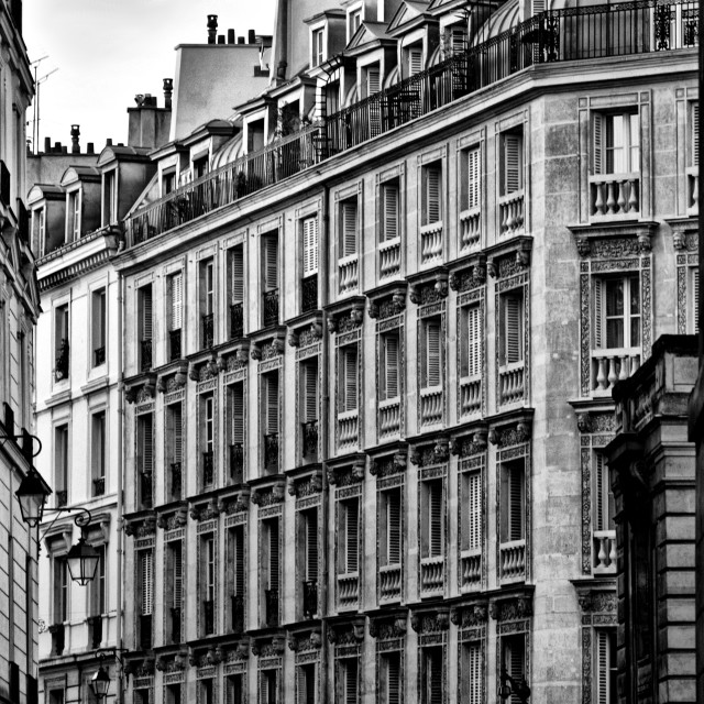 """Paris Apartments"" stock image"
