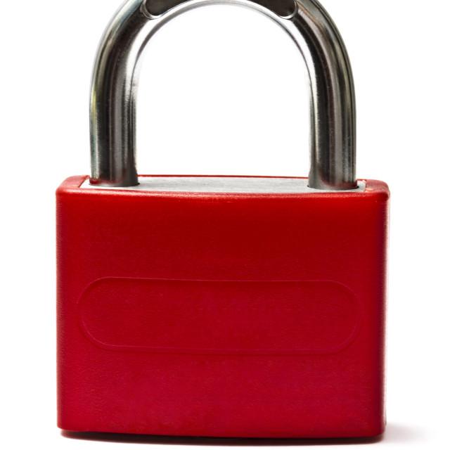 """Red padlock"" stock image"