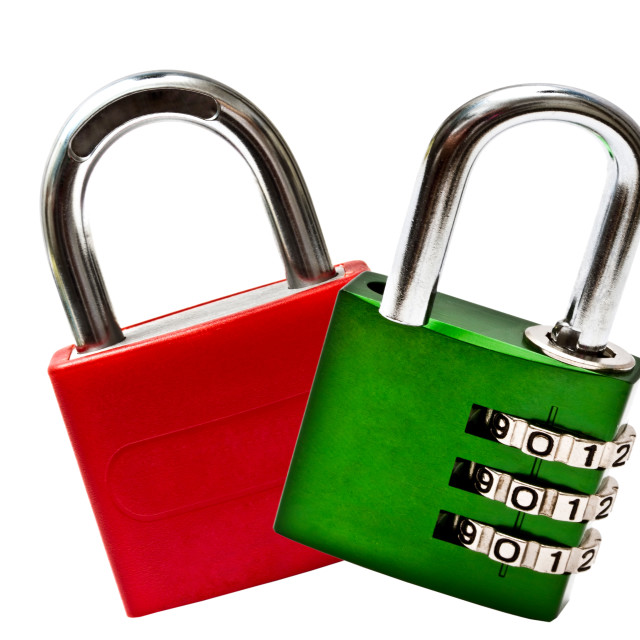 """""""Red and green lpadock"""" stock image"""