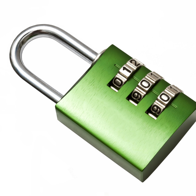 """Green combination lock"" stock image"