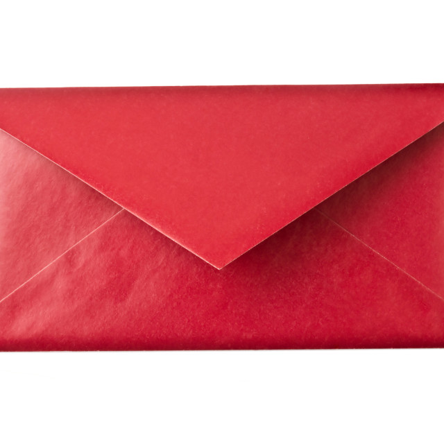 """""""Red envelope isolated on white"""" stock image"""
