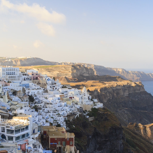 """Fira town on Santorini"" stock image"