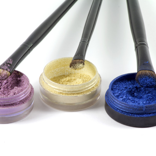 """Colored eyeshadows"" stock image"