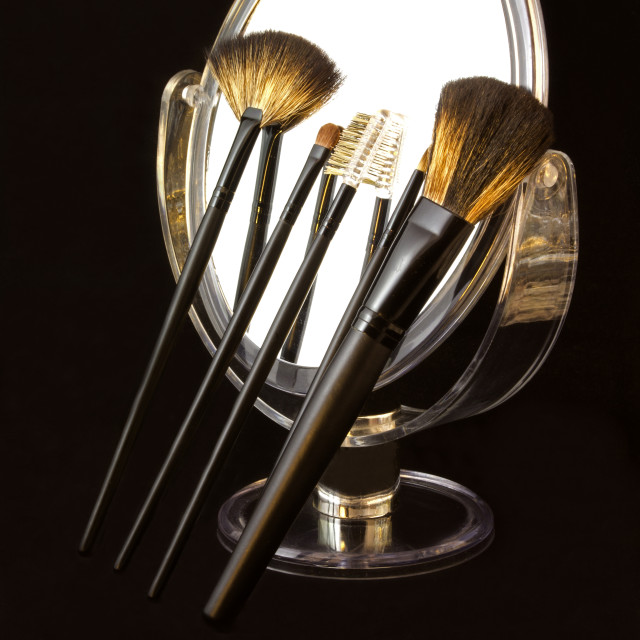 """Make up brushes"" stock image"